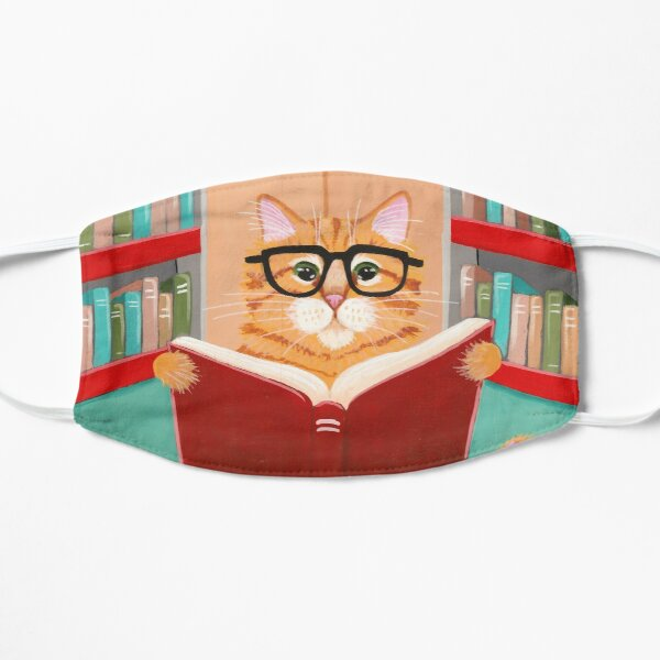 The Library Cat Flat Mask