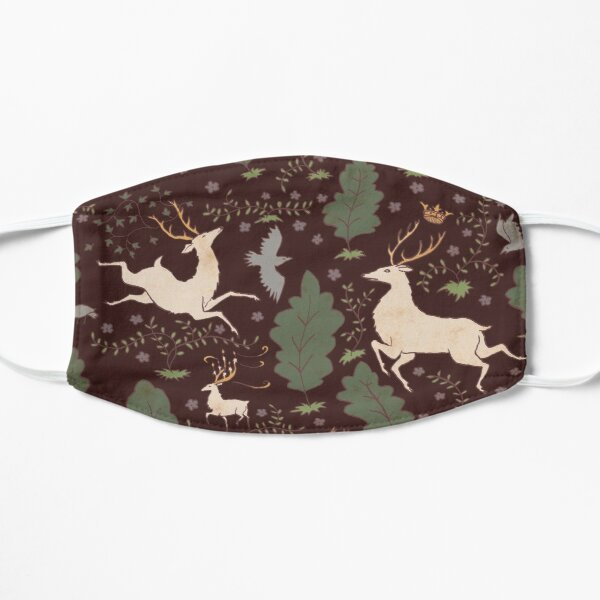 The Running of the Deer - Brown Flat Mask