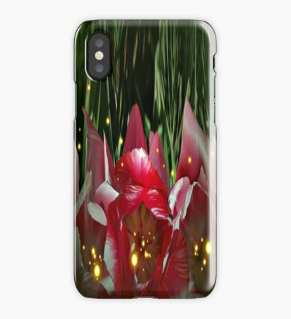 Lucciole in a tulip garden iPhone Case/Skin