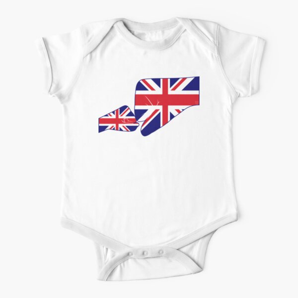 UK Baby Fist Bump Patriot Flag Series  Short Sleeve Baby One-Piece