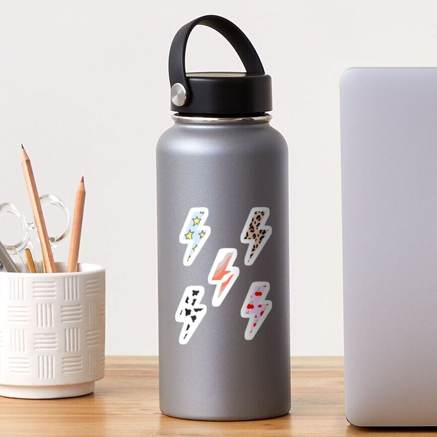 Lighting bolts with aesthetic patterns Sticker