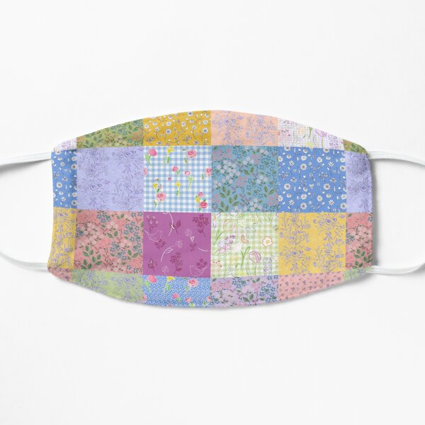 Spring palette patchwork quilt by Tea with Xanthe  Flat Mask