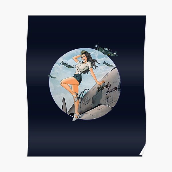Pin-up WWII Air Force Vintage Poster