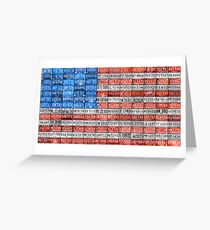 License Plate Flag of the USA United States - Michigan Plates Greeting Card