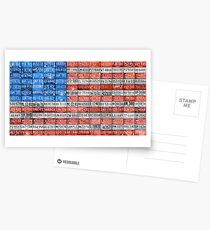 License Plate Flag of the USA United States - Michigan Plates Postcards
