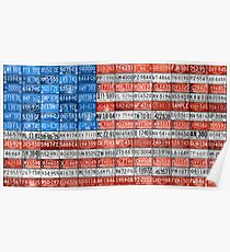 License Plate Flag of the USA United States - Michigan Plates Poster