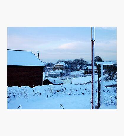 Building Snowy Dreams! Photographic Print