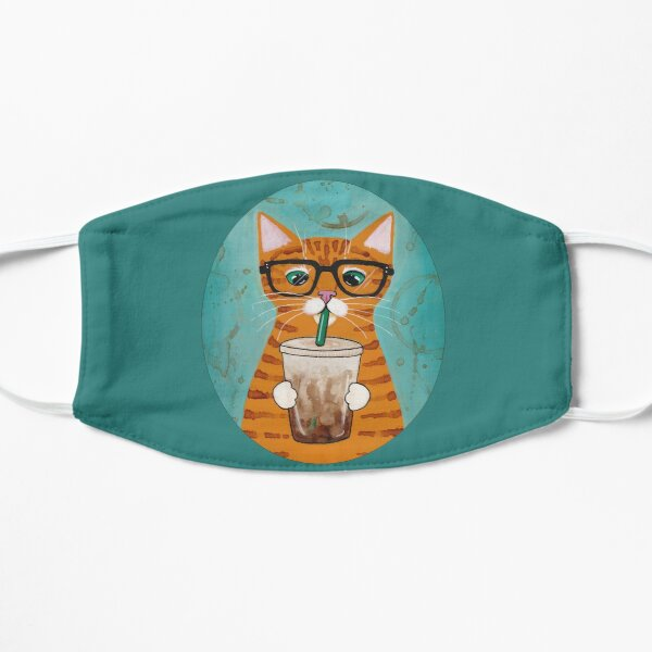 Iced Coffee Cat Flat Mask