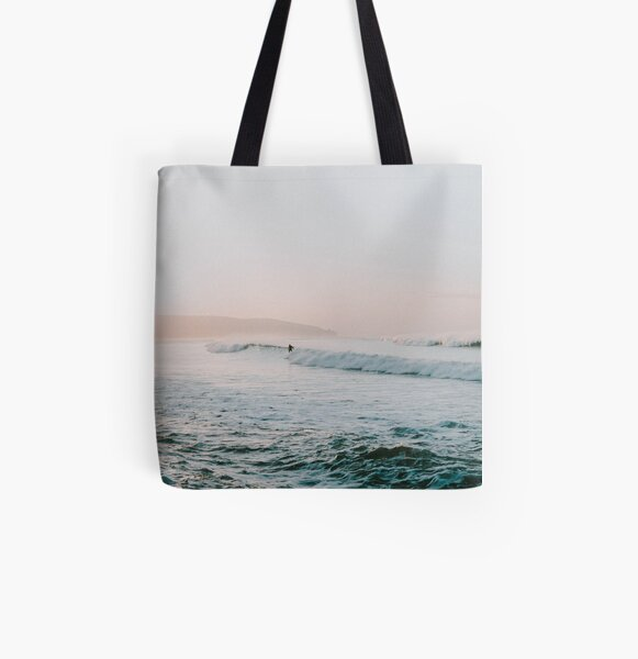 Summer Waves All Over Print Tote Bag
