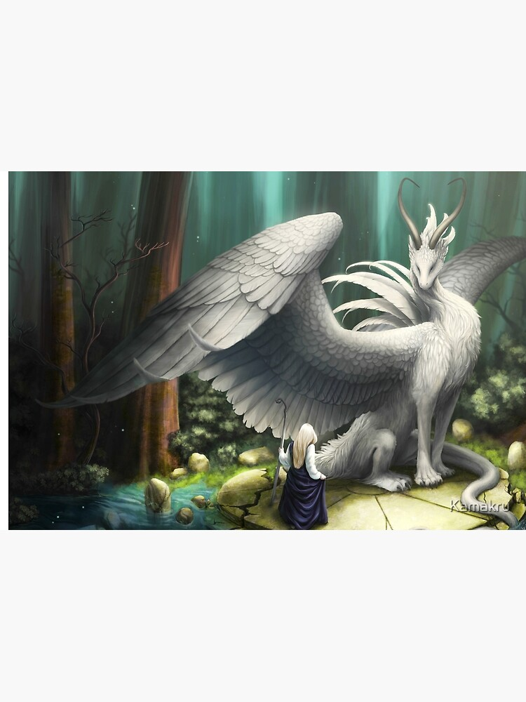 White Dragon - There in the Forest by Kamakru