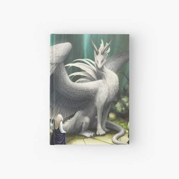 White Dragon - There in the Forest Hardcover Journal