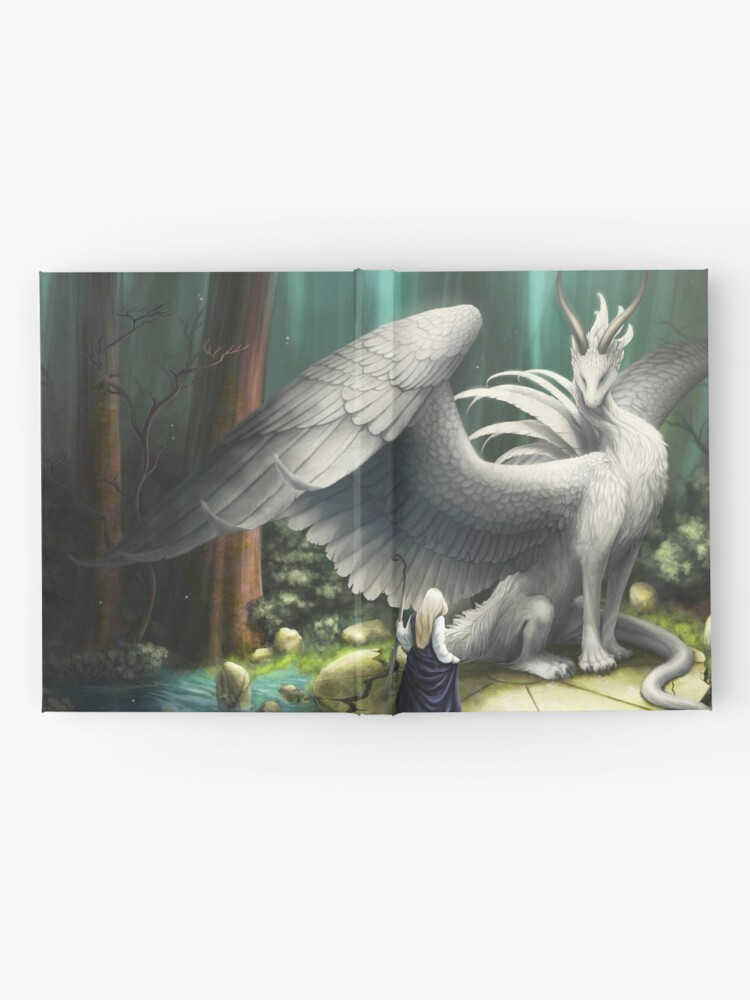 Alternate view of White Dragon - There in the Forest Hardcover Journal