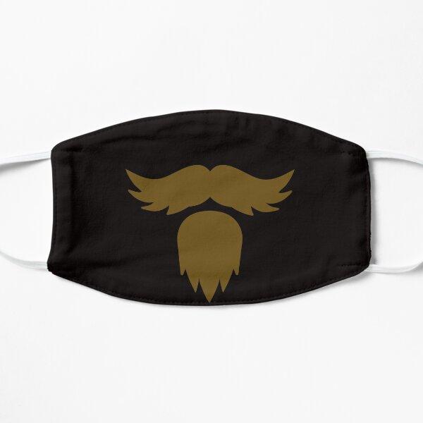 Barbe moustache hipster Masque sans plis