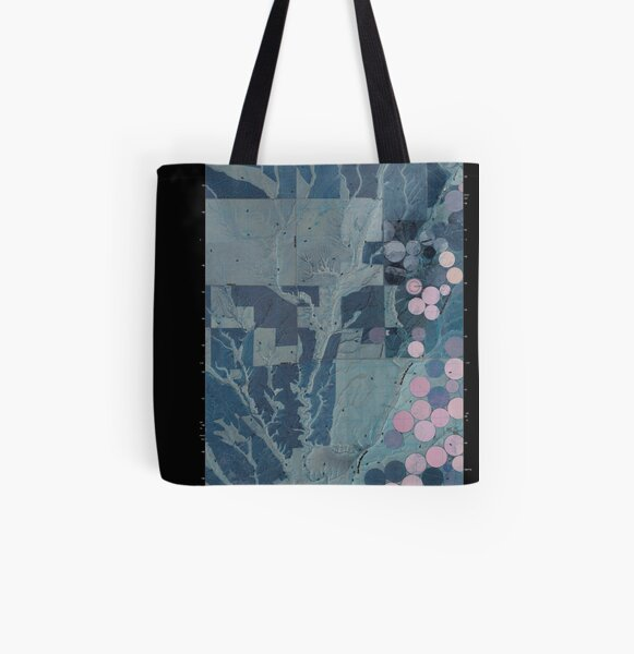 USGS Topo Map Washington State WA Lenzie Ranch 20110407 TM Inverted All Over Print Tote Bag