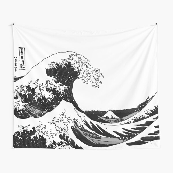 Great Wave Monochrome Tapestry