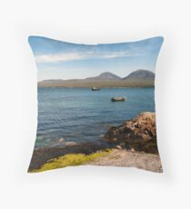 The Paps of Jura across the Sound of Islay Throw Pillow