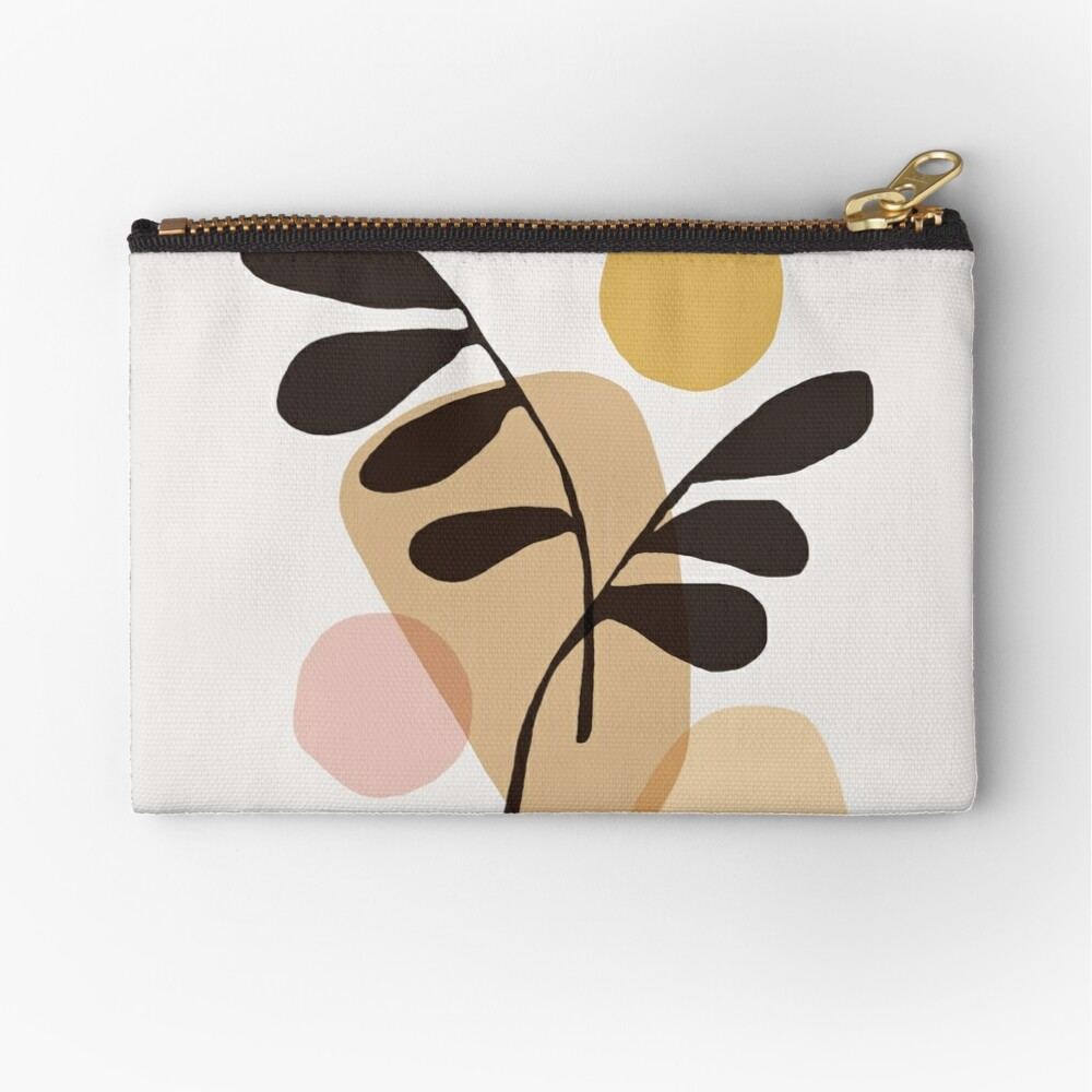 Abstraction_Bohemian_PLANTS_SUN_ART Zipper Pouch