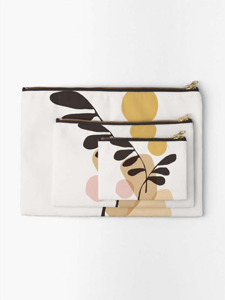 Alternate view of Abstraction_Bohemian_PLANTS_SUN_ART Zipper Pouch