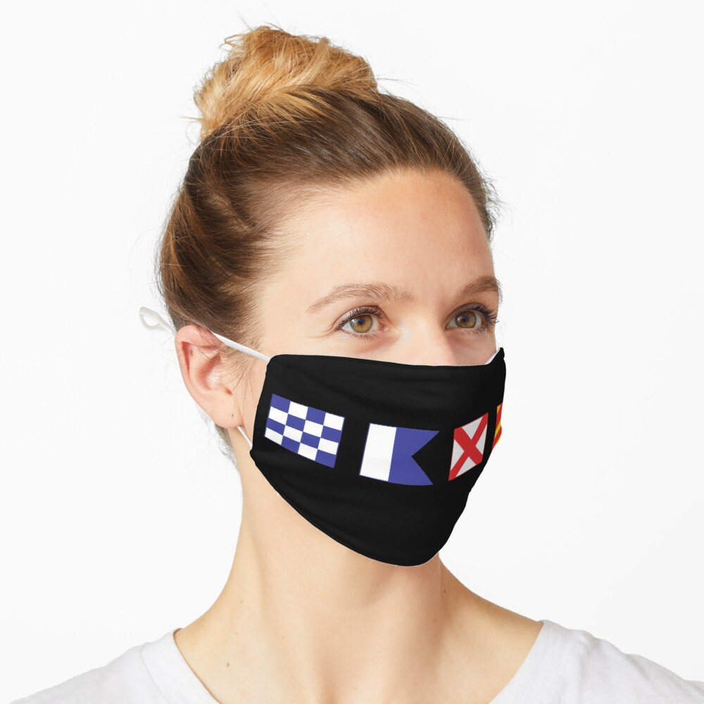 N - A - V - Y Spelled out in Signal Flags Mask