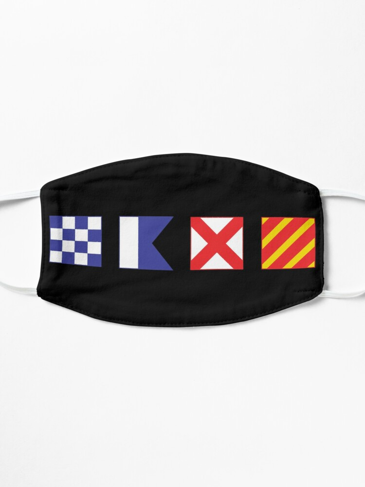Alternate view of N - A - V - Y Spelled out in Signal Flags Mask
