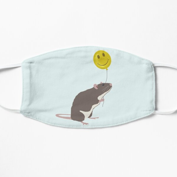 Rat with a Happy Face Balloon Flat Mask