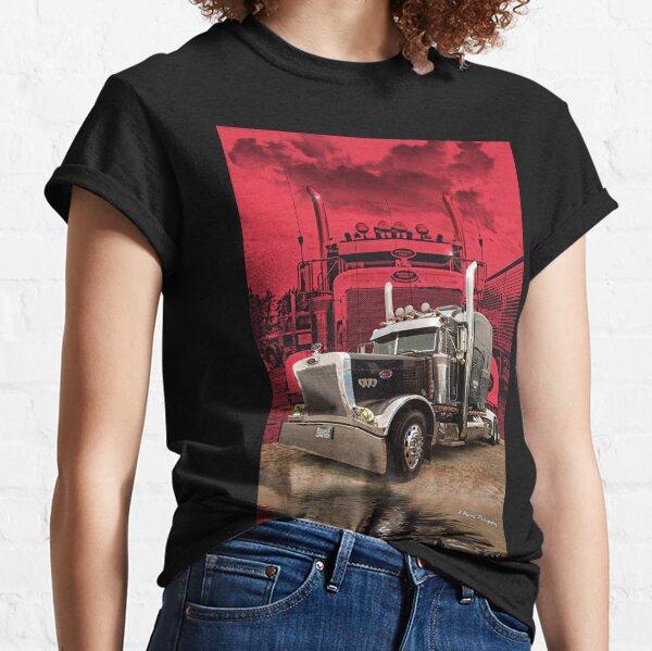 Peterbilt with Red Peterbilt background Classic T-Shirt