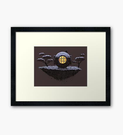 Floating Diver Home Sweet Home Framed Print
