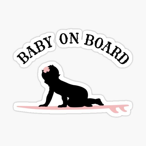 Surf Girl Baby On Board - Dark Sticker