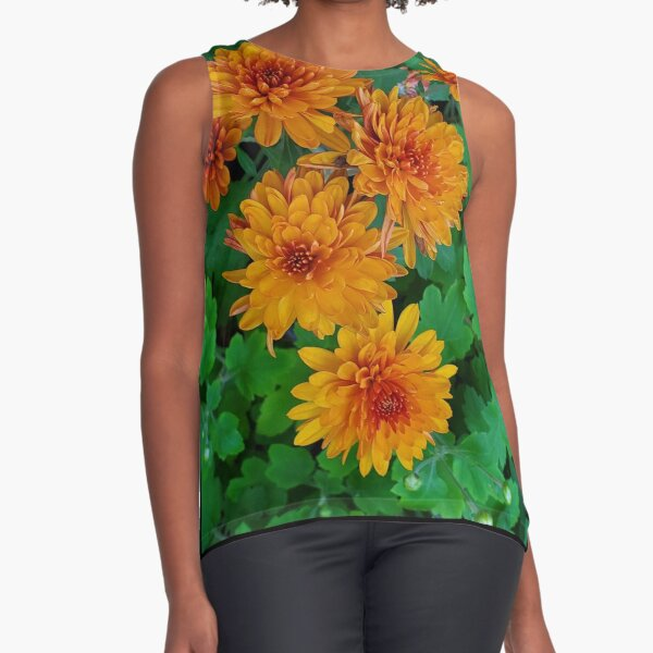 Chrysanthemum from my garden Sleeveless Top