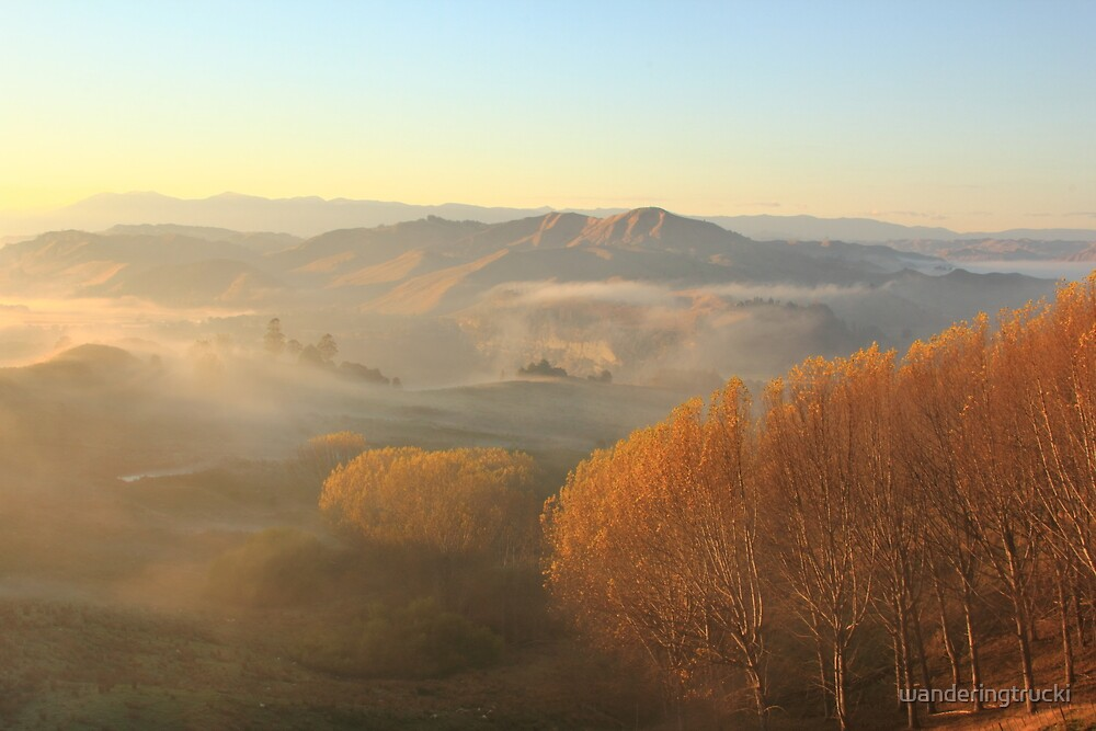 Misty Valley  by wanderingtrucki