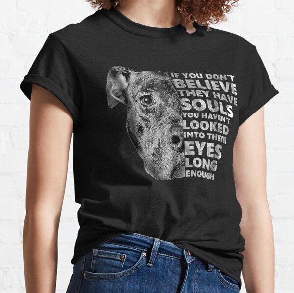 Soul Pitbull I Love Pitbull Dog Lover Classic T-Shirt