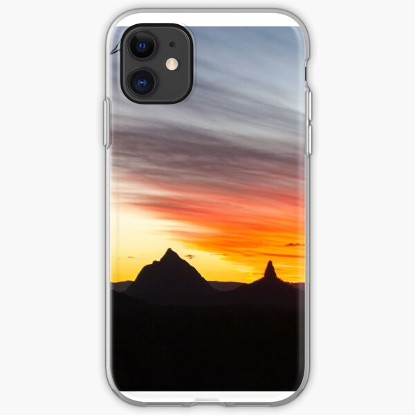 Mountains Sunset Photography (White) iPhone Soft Case