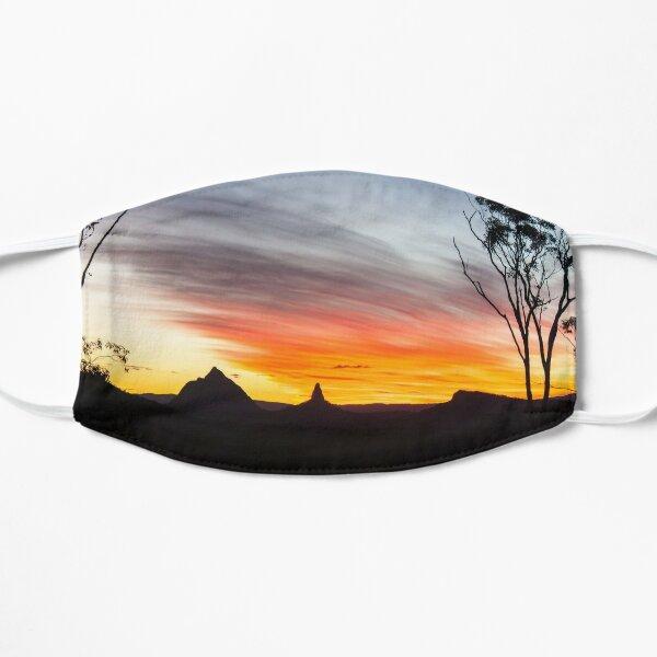 Mountains Sunset Photography (White) Mask
