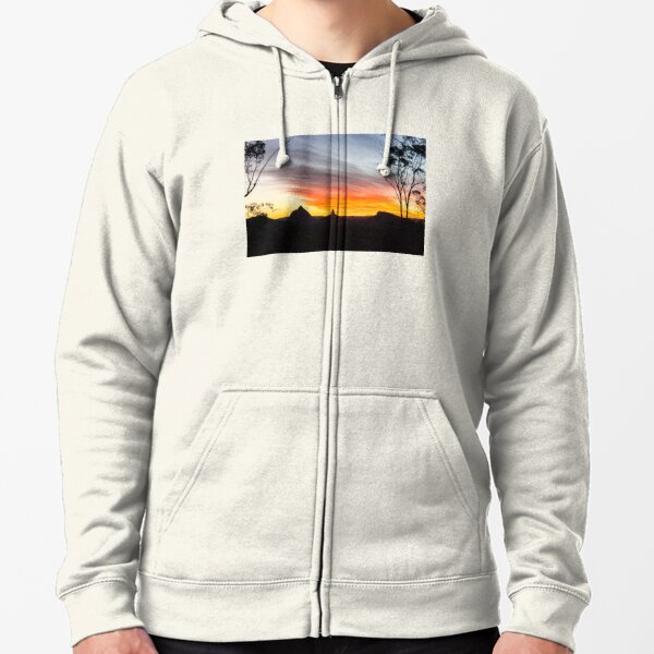 Mountains Sunset Photography (White) Zipped Hoodie