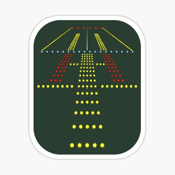 Airport Runway Lights At Night Sticker