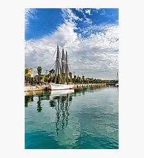 Tall Ships and Palm Trees - Impressions of Barcelona Photographic Print