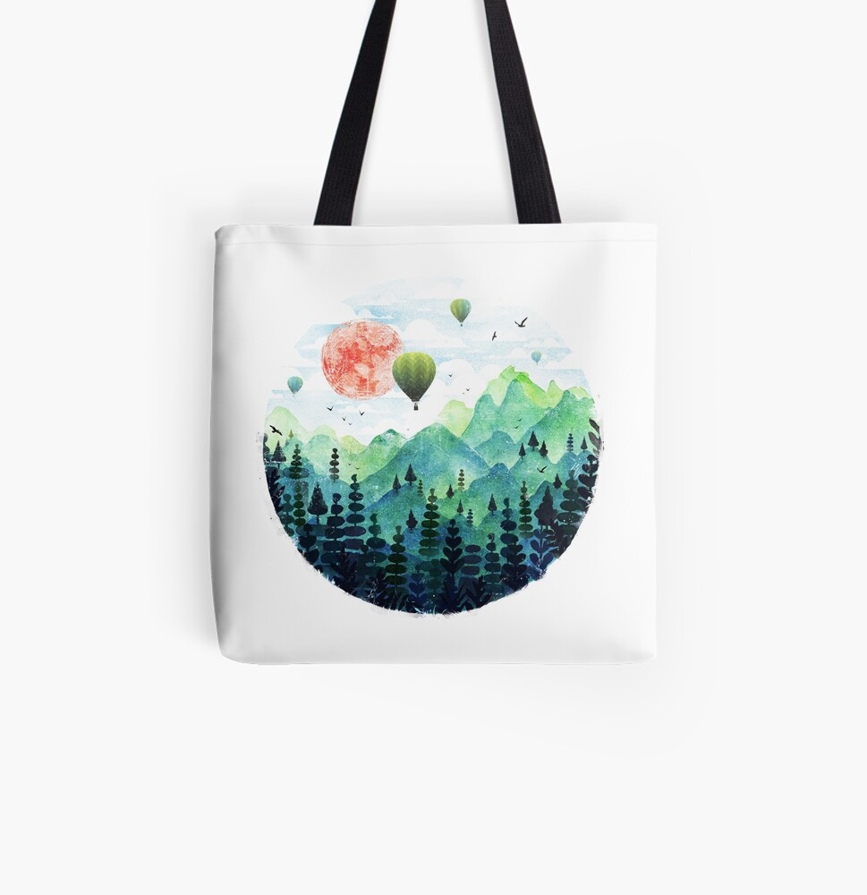 Roundscape All Over Print Tote Bag