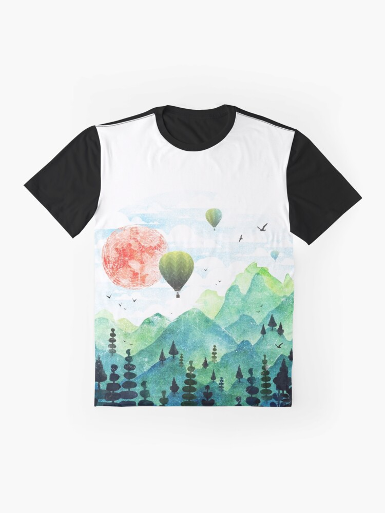 Alternate view of Roundscape Graphic T-Shirt