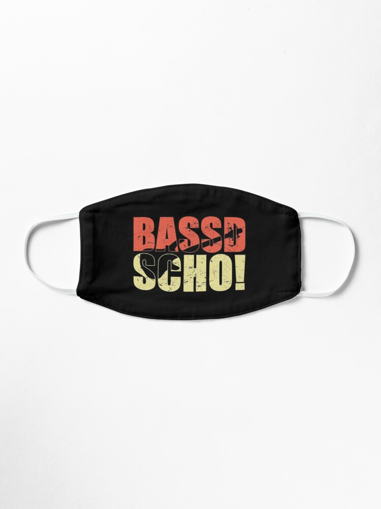 Alternative Ansicht von Bassist Geschenk BASSD SCHO lustiger Spruch für Bassisten Maske