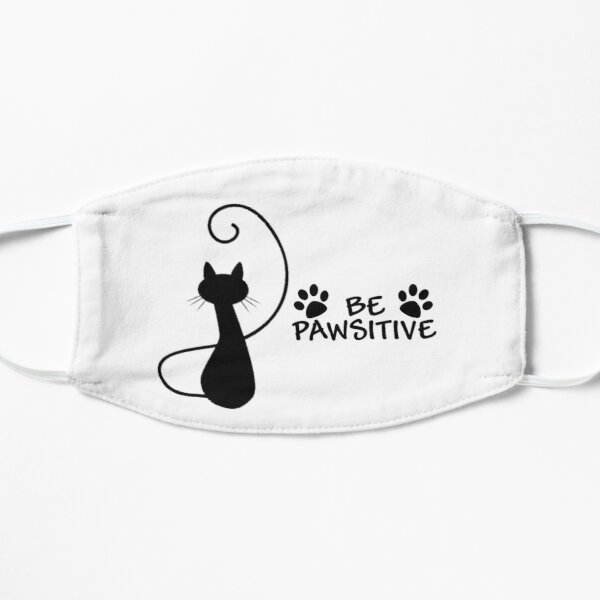 Be Pawsitive - Cat Design Mask
