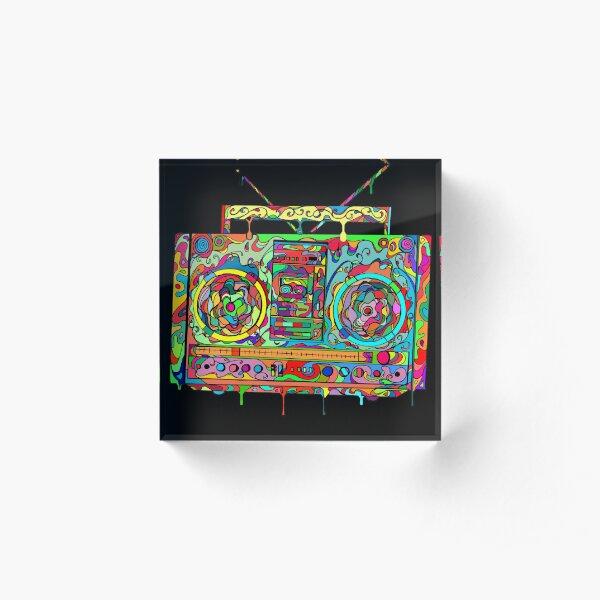 Boom Box Acrylic Block