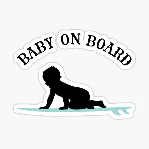 Surf Boy Baby On Board - Dark Sticker