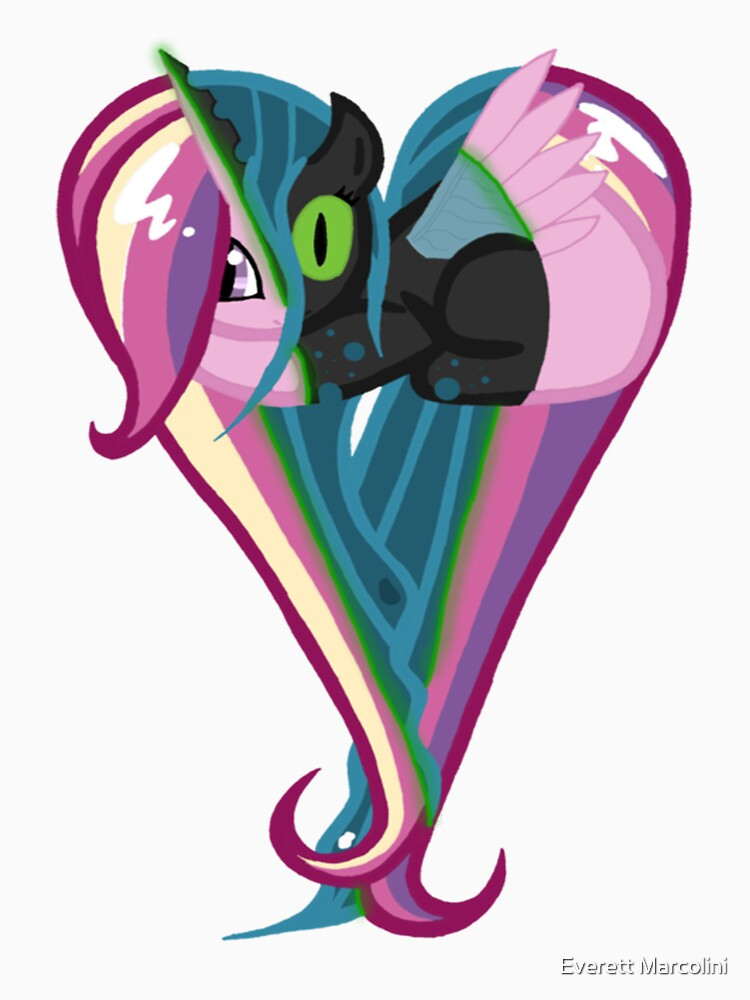 Queen Chrysalis/Princess Cadance Heart | Unisex T-Shirt