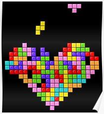 Tetris Heart Poster