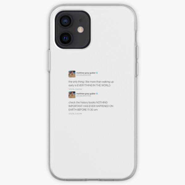 Nothing good has ever happened before 11:30 am iPhone Soft Case