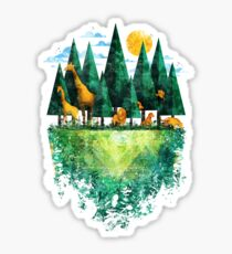 Geo Forest Sticker