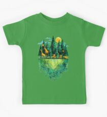 Geo Forest Kids Tee