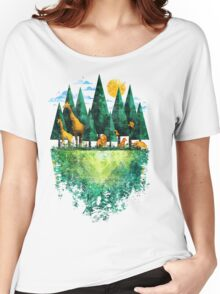 Geo Forest Women's Relaxed Fit T-Shirt