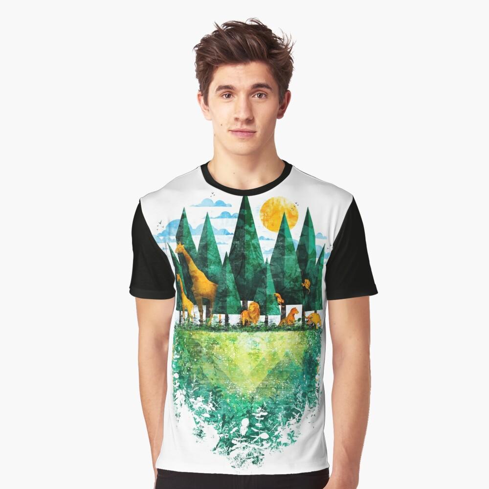 Geo Wald Grafik T-Shirt
