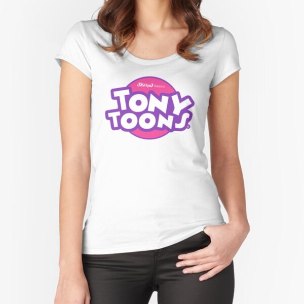 TonyToons Cartoon Logo Fitted Scoop T-Shirt